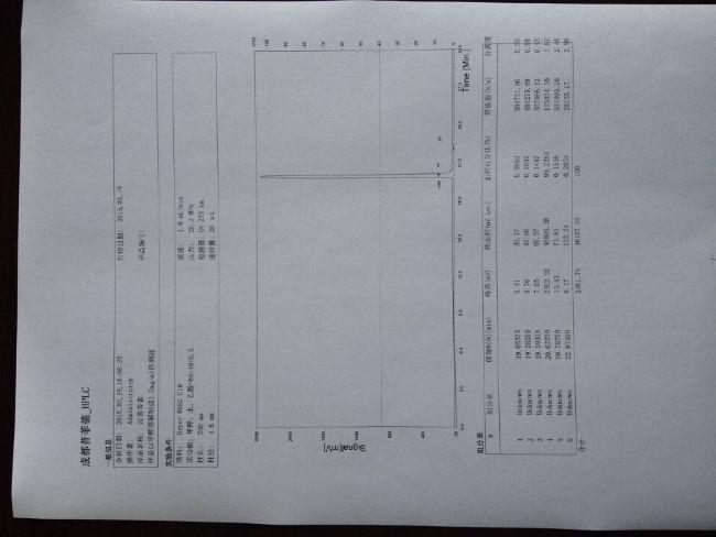 素液相图谱